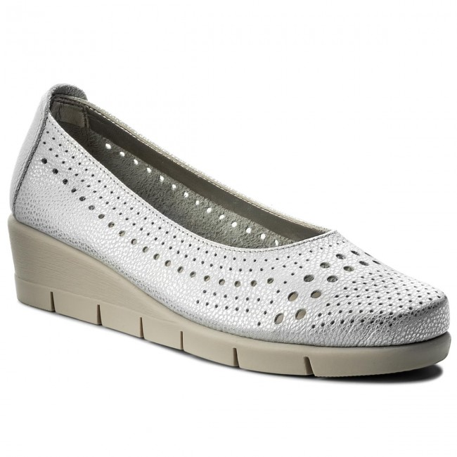 Shoes THE FLEXX - Palomino B235/37 Silver - Wedge-heeled shoes Women's - Low shoes - Women's shoes shoes 28cf5b