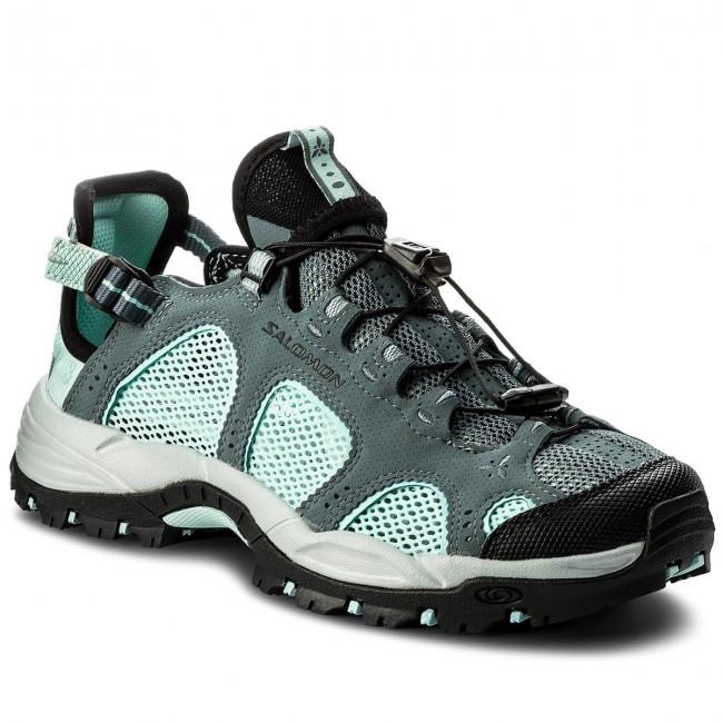 Trekker Boots SALOMON - Techamphibian 3 W 401624 Blue/Black 21 M0 Stormy Weather/Eggshell Blue/Black 401624 - Trekker boots - Low shoes - Women's shoes 96f497