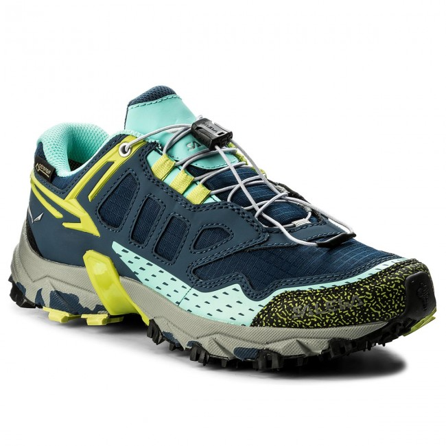 Shoes SALEWA - Ultra Dark Train Gtx GORE-TEX 64411-8670 Dark Ultra Denim/Aruba Blue  - Outdoor - Running shoes - Sports shoes - Women's shoes 3cea2d