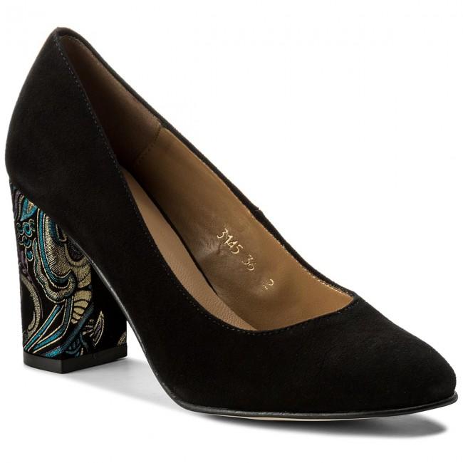 Shoes SAGAN - 3145 - Czarny Welur - Heels - 3145 Low shoes - Women's shoes bc9ca3