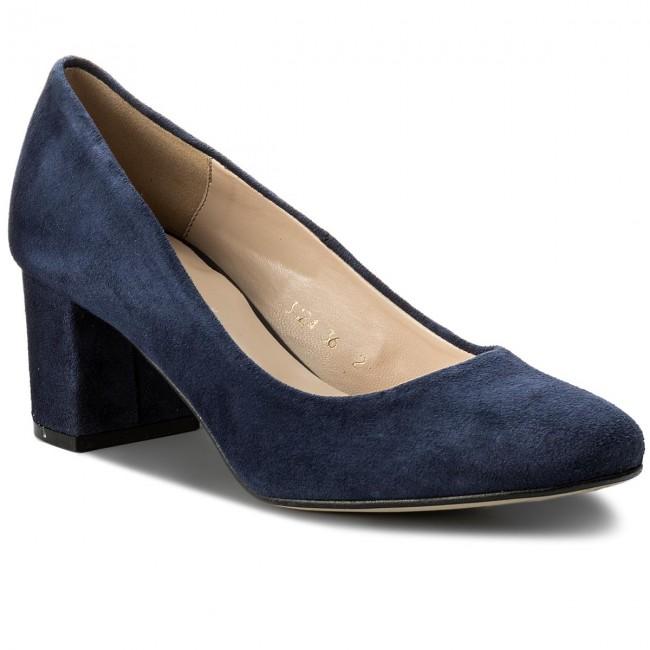 5e911543b0a Shoes SAGAN - 3124 Granatowy Granatowy Granatowy Welur - Heels - Low shoes  - Women s shoes 33b5d8