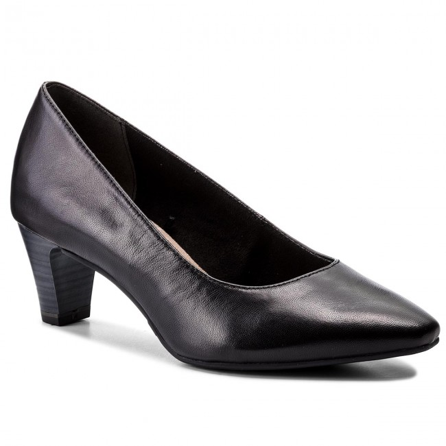 Shoes TAMARIS - 1-22473-30 Heels Black Leather 003 - Heels 1-22473-30 - Low shoes - Women's shoes ddbada