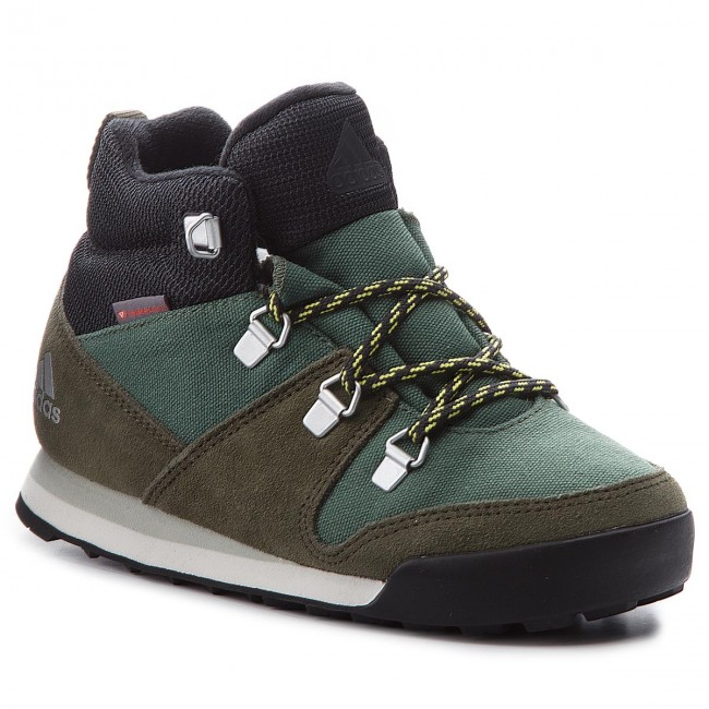 Shoes adidas - Basgrn/Ngtcar/Ashsil Cw Snowpitch K AC7963 Basgrn/Ngtcar/Ashsil - - Trekker boots - High boots and others - Women's shoes c67707