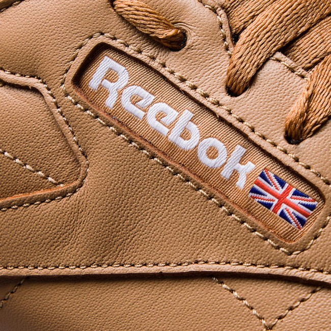Shoes Reebok - Cl Leather Mu CN5768  Soft Soft Soft Camel/White/Gum - Sneakers - Low shoes - Men's shoes fb8987