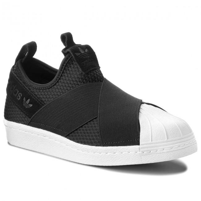 Shoes adidas - Superstar Slip On W - B37193 Cblack/Cblack/Ftwwht - Sneakers - W Low shoes - Women's shoes 31212b