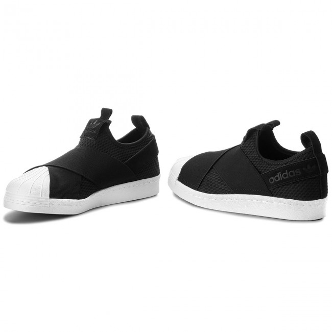 1ae3df014e ... Shoes adidas - Superstar Slip On Sneakers W B37193 Cblack Cblack Ftwwht  - Sneakers ...