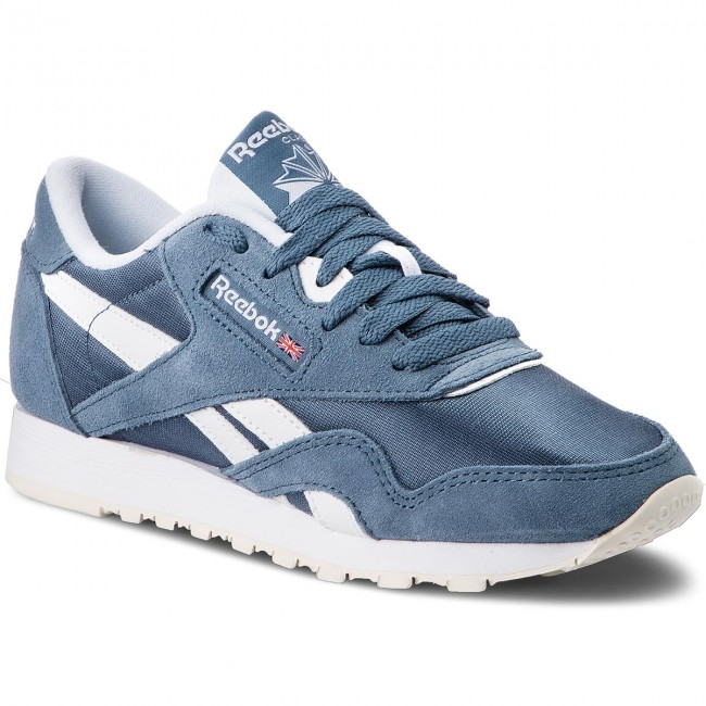 Shoes Reebok - Cl Nylon CN4019 Sneakers  Blue Slate/White/Chalk - Sneakers CN4019 - Low shoes - Women's shoes e12a86