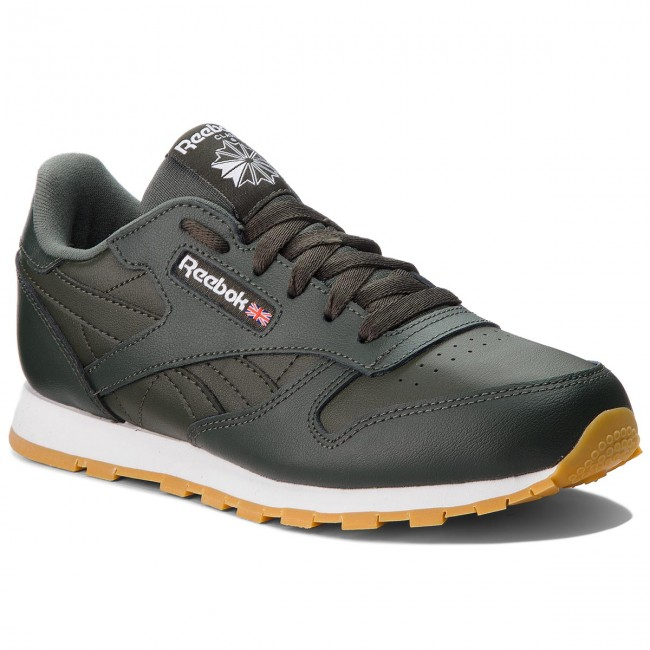 Shoes Reebok - Classic Leather CN5613 - Dark Cypress/White - Sneakers - CN5613 Low shoes - Women's shoes bd9840
