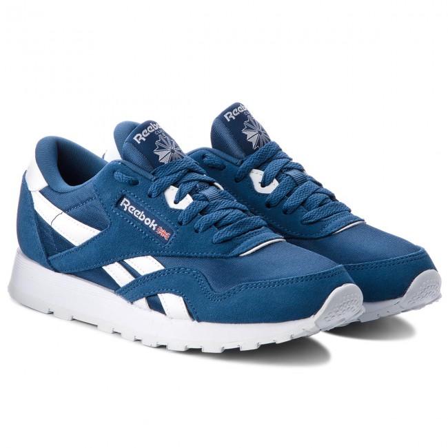Shoes Reebok - Cl Nylon CN5022 Bunker Bunker Bunker Blue/White - Sneakers - Low shoes - Women's shoes 044738