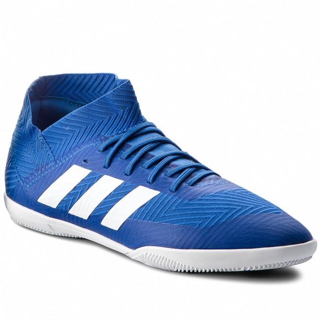 Shoes adidas - Nemeziz DB2374 Tango 18.3 In J DB2374 Nemeziz Fooblu/Ftwwht/Cblack - Piłka nożna - Sports shoes - Women's shoes 8527f3