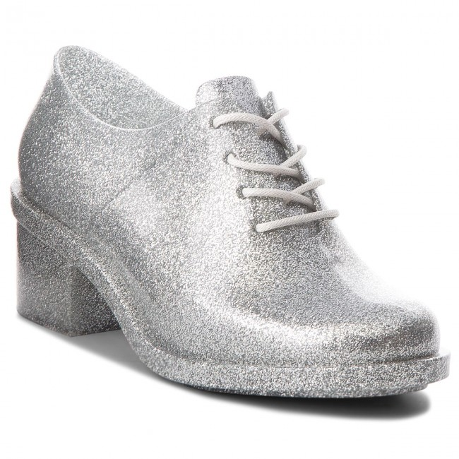 Shoes MELISSA - Dubrovka Ad 32245 Glass Silver Glitter Low 03895 - Heels - Low Glitter shoes - Women's shoes 5e8b69
