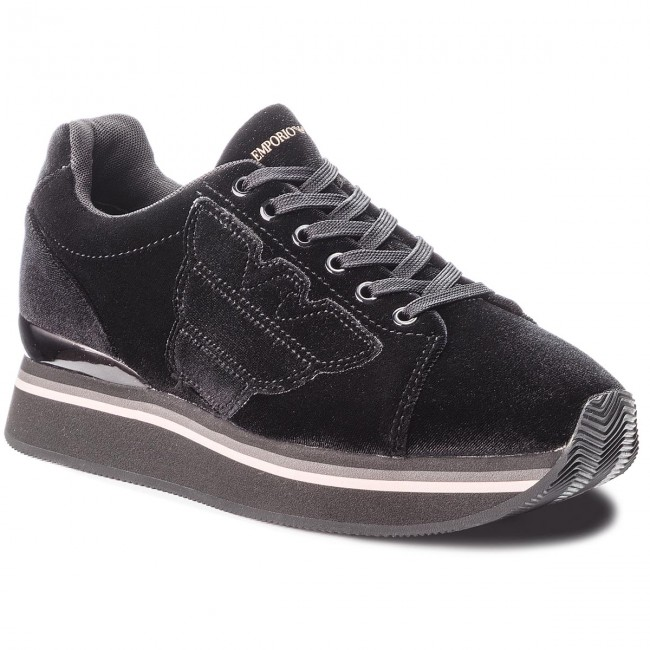Sneakers EMPORIO ARMANI - X3X057 Sneakers XD163 00002 Black - Sneakers X3X057 - Low shoes - Women's shoes c4c96e