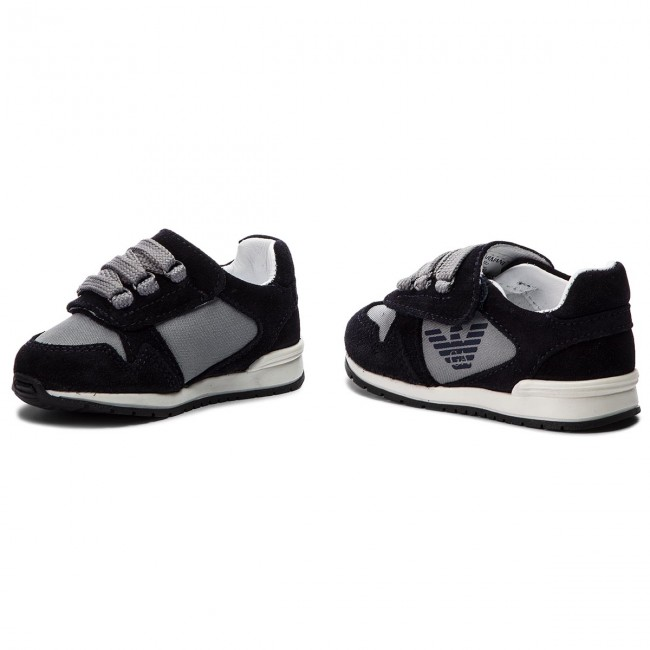 Shoes EMPORIO ARMANI - XMX002 XOC02 K007 Blue/Grey - - - Velcro - Low shoes - Boy - Kids' shoes bbbadb