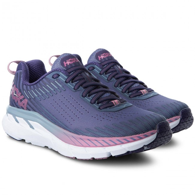 Shoes HOKA ONE ONE - Clifton 5 1093756 Marlin/Blue Ribbon Ribbon Ribbon - Indoor - Running shoes - Sports shoes - Women's shoes 487fad