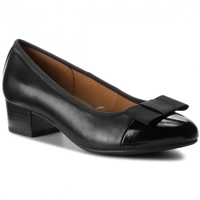 Shoes CAPRICE - 9-22303-21 Blk Nappa Comb 026 shoes - Heels - Low shoes 026 - Women's shoes f170e6