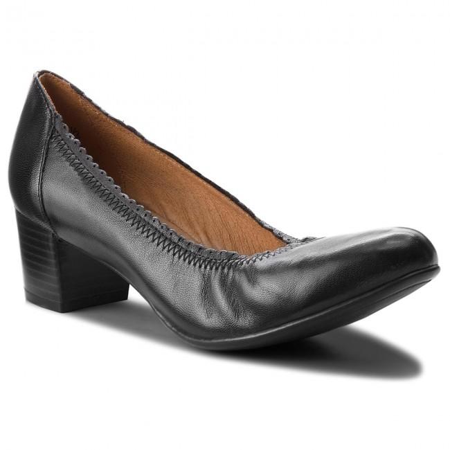 Shoes CAPRICE - 9-22310-21 Black Nappa 022 - Heels - shoes Low shoes - Women's shoes - 21682f