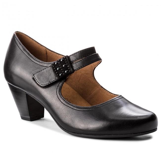 Shoes CAPRICE - 9-24405-21 Black Nappa 022 - Heels - shoes Low shoes - Women's shoes - 96cd15
