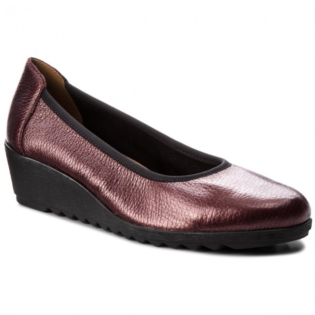 Shoes CAPRICE - 9-22305-21 shoes Borde.Met.Deer 590 - Wedge-heeled shoes 9-22305-21 - Low shoes - Women's shoes c7fcf2