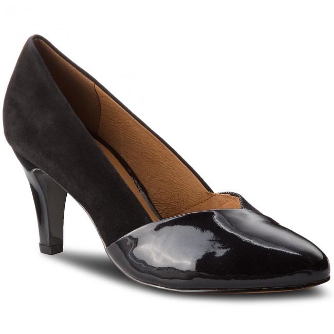 Shoes CAPRICE - 9-22407-21 Black Comb 019 - Heels - shoes Low shoes - Women's shoes - f04a3c