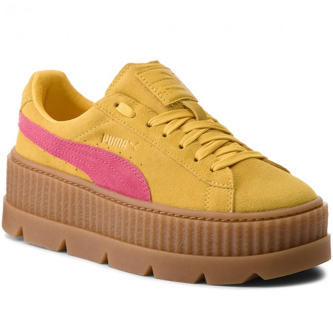 Sneakers PUMA - Cleated Ide CreeperSuede 366268 03 Lemon/Carmine/Vanilla Ide Cleated - Sneakers - Low shoes - Women's shoes bfa41c