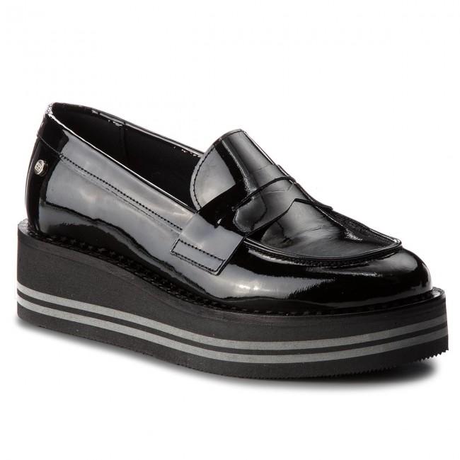 Shoes TOMMY HILFIGER - Black Modern Flatform Loaf FW0FW03141 Black - 990 - Wedge-heeled shoes - Low shoes - Women's shoes 143d3a