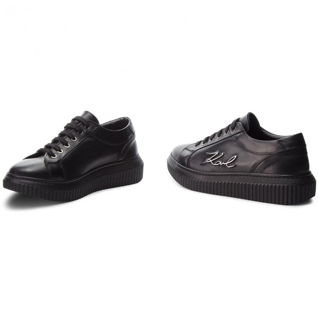 Sneakers KARL LAGERFELD - KL42305 Black - Sneakers - - - Low shoes - Women's shoes 12d67c