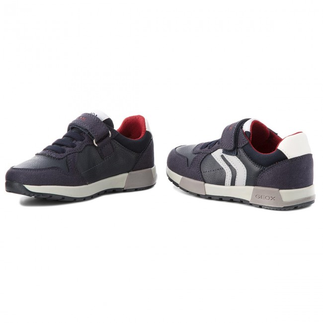Shoes GEOX - J Alfier B. C J846NC 0FUAU C0661 C0661 C0661 Navy/Grey - Velcro - Low shoes - Boy - Kids' shoes 1d283a