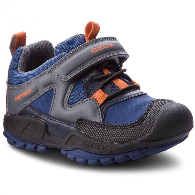 178b72468c5 Shoes GEOX - J N. Savage B.B Abx Abx Abx C J841WC 011BC C0002 Blue/Dk Grey  - Velcro - Low shoes - Boy - Kids' shoes 1c93af