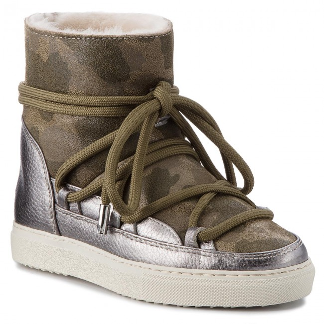 Shoes INUIKII Met. - Sneaker 70202-17 Camouflage Met. INUIKII Silver  - Winter boots - High boots and others - Women's shoes 18f3fa
