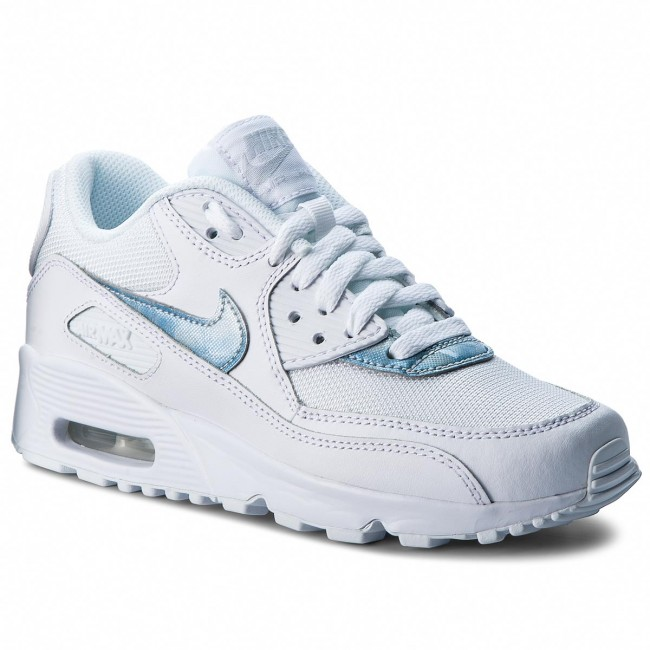Shoes NIKE - Air Max 90 Mesh (GS) 833418 111 Sneakers White/Royal Tint White - Sneakers 111 - Low shoes - Women's shoes d3bfb7