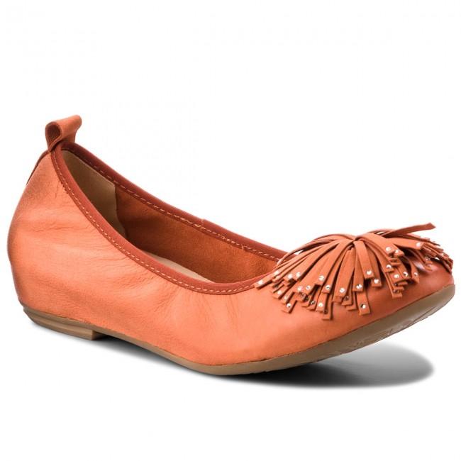 Shoes CAPRICE - 9-22121-20 Orange Nubuc 609 - shoes Wedge-heeled shoes - Low shoes - - Women's shoes e12b7e