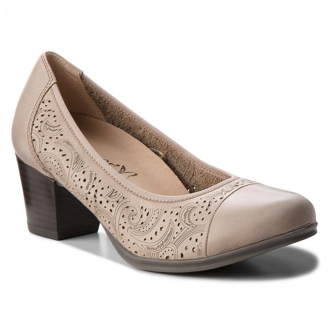 Shoes CAPRICE - 9-22504-20 Heels Taupe Nappa 342 - Heels 9-22504-20 - Low shoes - Women's shoes 17bbd5