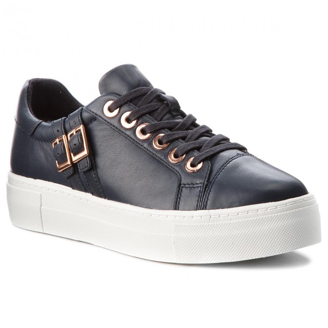 Sneakers TAMARIS - 1-23715-21 Navy - Leather 848 - Sneakers - Navy Low shoes - Women's shoes 7d5bbd