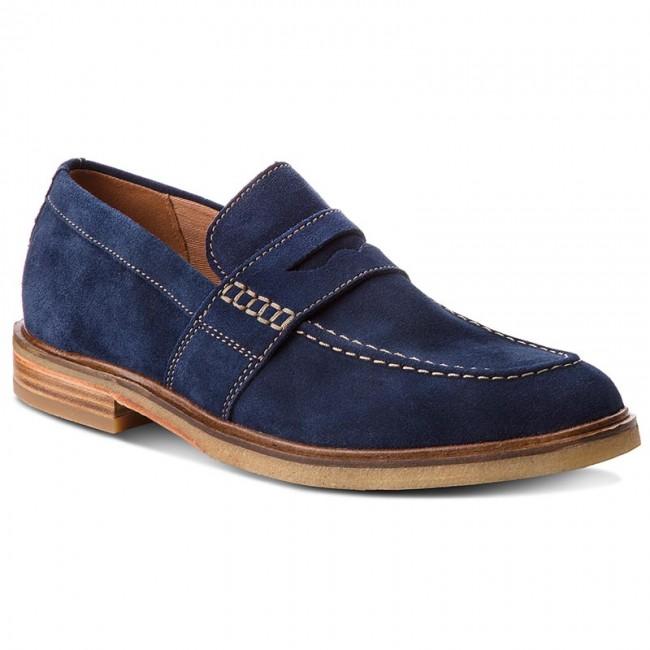 Shoes CLARKS - Clarkdale Flow Flow Clarkdale 261317547 Navy Suede - Casual - Low shoes - Men's shoes 8ba2f9