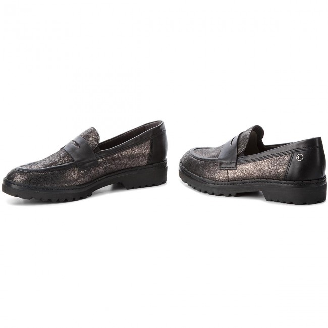 Shoes TAMARIS - 1-24703-21 Pewter/Black Pewter/Black Pewter/Black 919 - Flats - Low shoes - Women's shoes 38d4cc