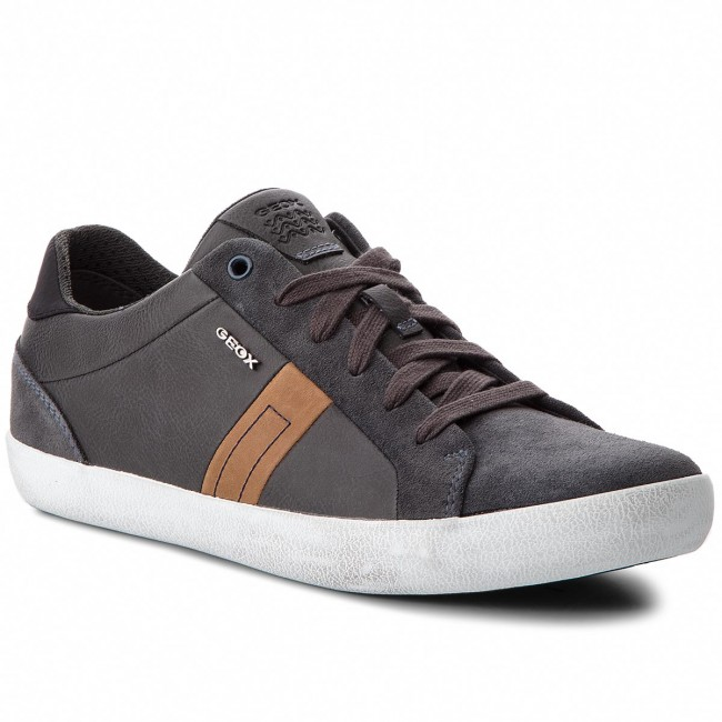 822b0c7d89aa Shoes GEOX - U Box G G G U84R3G 022ME C9004 Anthracite - Casual - Low shoes  - Men s shoes fb5dd0