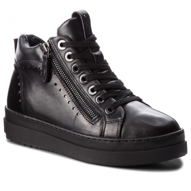 Sneakers TAMARIS - 1-25218-21 - Blk Lea. Comb. 077 - 1-25218-21 Sneakers - Low shoes - Women's shoes 6bf7fe