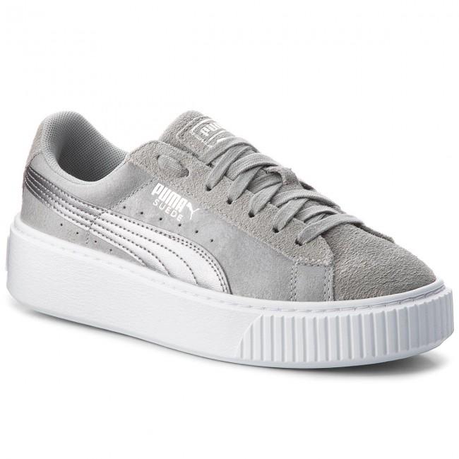 Sneakers PUMA -  02 Suede Platform Safari 364594 02  Quarry/Quarry - Sneakers - Low shoes - Women's shoes 7892f8