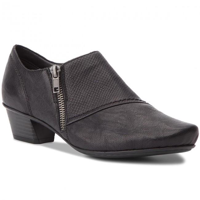Shoes RIEKER - 53851-00  Schwarz - Heels Women's - Low shoes - Women's Heels shoes b11e23