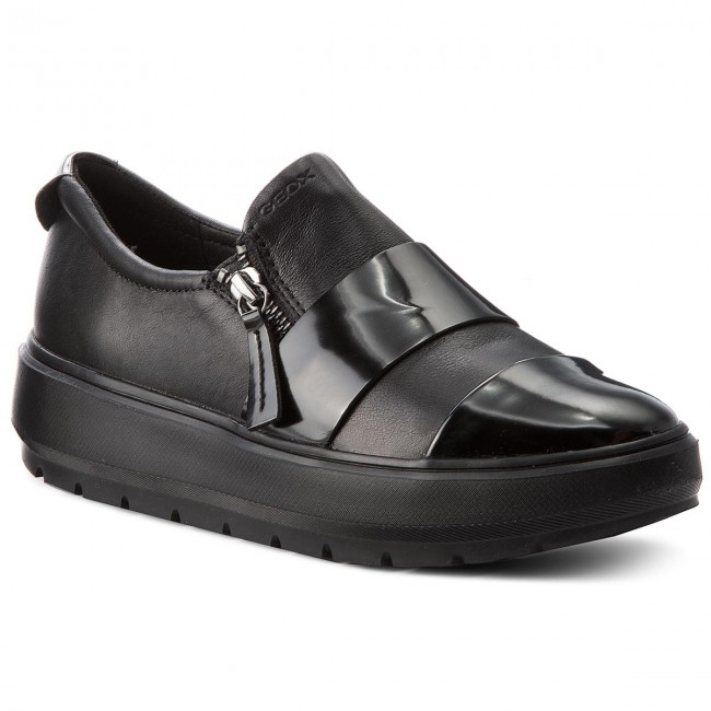 Shoes GEOX - D Kaula F D84ANF 08554 shoes C9999 Black - Wedge-heeled shoes 08554 - Low shoes - Women's shoes ebc5fb