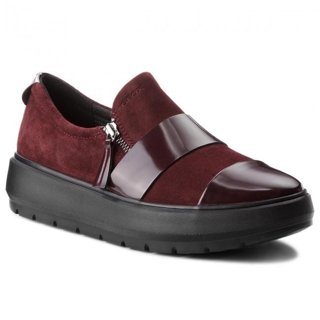 Shoes GEOX - D Kaula F D84ANF 022BC C7357 Dk - Burgundy - Wedge-heeled shoes - Dk Low shoes - Women's shoes c78c65