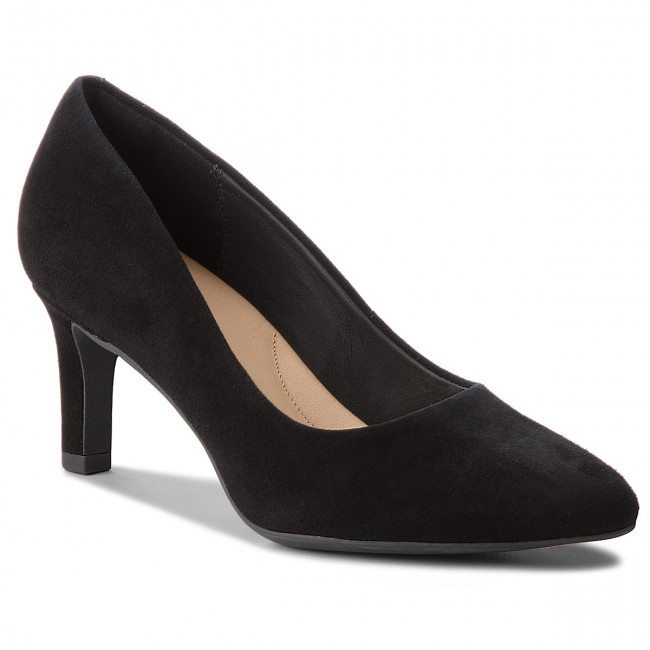 Shoes CLARKS - Calla Rose 261360444 Heels  Black Suede - Heels 261360444 - Low shoes - Women's shoes 8b63ad