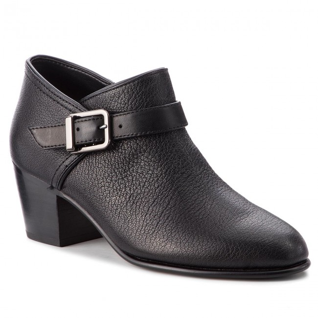 Shoes CLARKS - Maypearl Milla 261361504 Black Leather shoes - Heels - Low shoes Leather - Women's shoes 2bc911