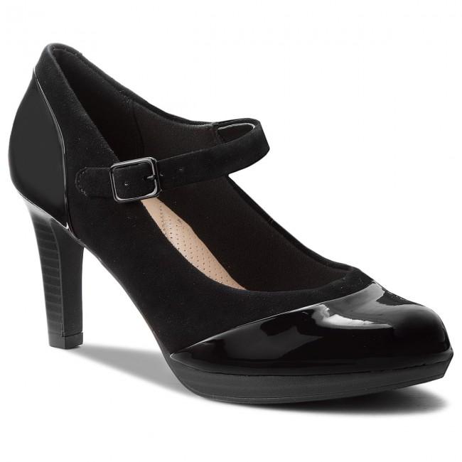 Shoes CLARKS - Combi Adriel Carla 261363764 Black Combi - - Heels - Low shoes - Women's shoes ff3c36
