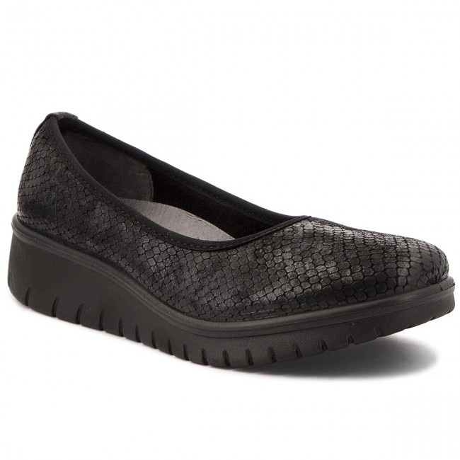 Shoes ROMIKA - Varese N 09 - 50209 116 100 Black - 09 Wedge-heeled shoes - Low shoes - Women's shoes 9412bd