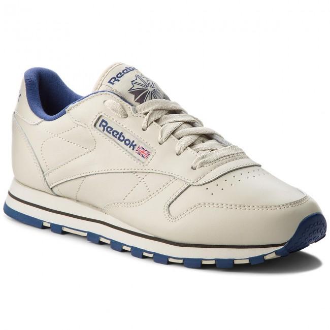 Shoes Reebok - Cl Lthr 28413 Low Ecru/Navy - Sneakers - Low 28413 shoes - Women's shoes 38d5d0