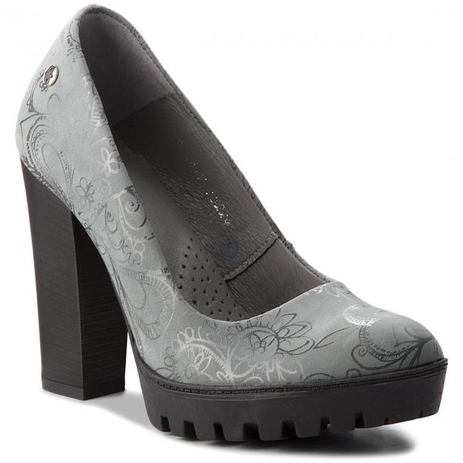 Shoes MACIEJKA - 02629-13/00-1 Popiel Kwiaty - Heels Women's - Low shoes - Women's Heels shoes 3b52a2