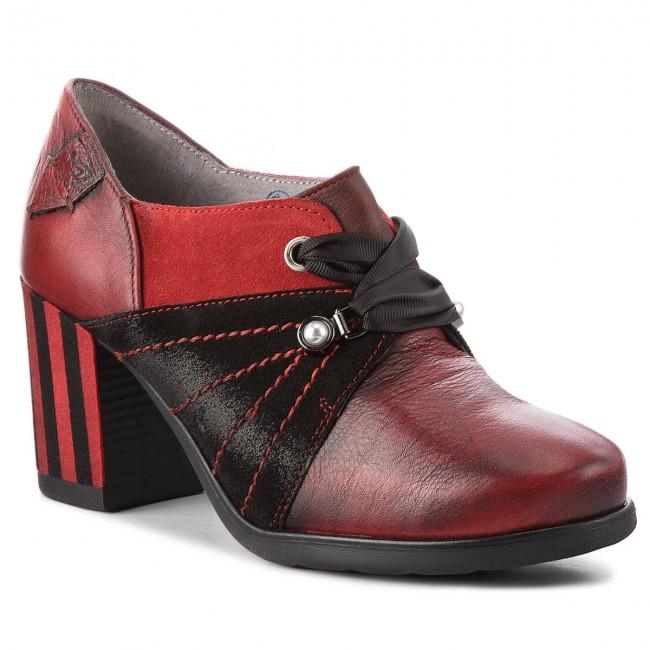 Shoes MACIEJKA - 03655-08/00-5 Black Red - Heels Women's - Low shoes - Women's Heels shoes 161286