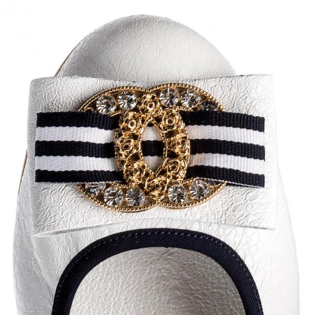 Flats R.POLAŃSKI - 0943 Biały Biały Biały Kryształ - Ballerina shoes - Low shoes - Women's shoes d6e390