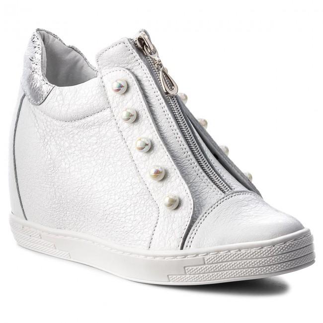 Sneakers R.POLAŃSKI - 0922 Sneakers Biały Kryształ Srebrny - Sneakers 0922 - Low shoes - Women's shoes 55a94c